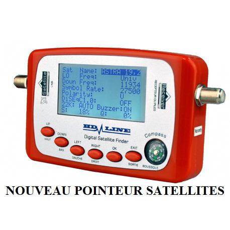HD Line SF-500//SF-500A  Digital Satfinder pointeur satellite pour r/églage parabole